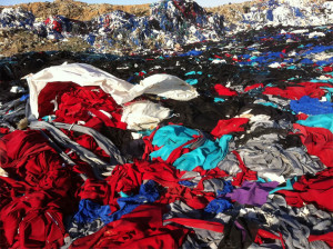 Textile landfill in Syria,.